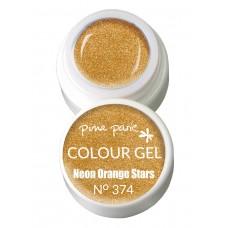 1-25374 Neon Orange Stars, UV-LED gel colour, 5gr