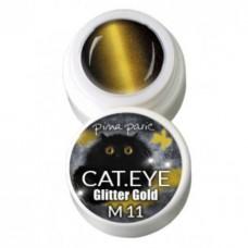 1-2711 Cat-eye Glitter Gold, UV-LED gel colour, 5gr