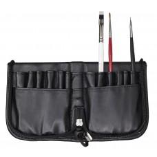 14-113 Brush bag / penselentas uit zwart kunst leder