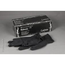 Latex Handschoenen zwart - Gr. L