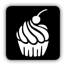 Sjabloon cupcake