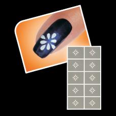Nageltattoo - Tribal bloem