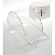 Pad dispenser met 1 rol pads (nailwipes)
